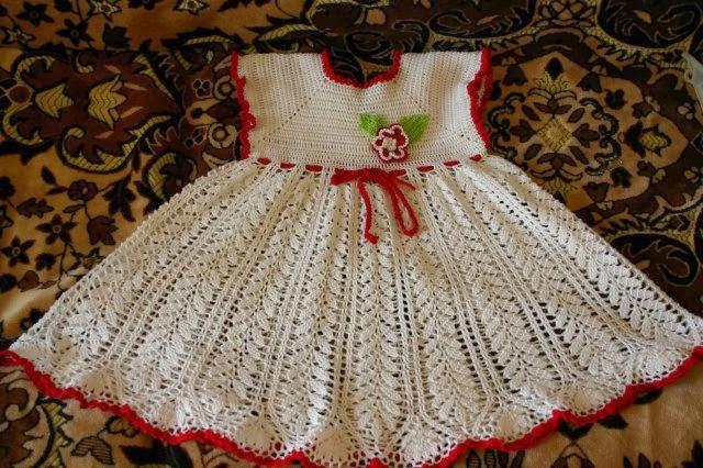 Видео-уроки вязания детского платья крючком