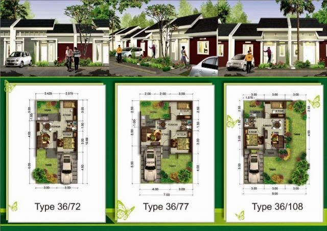 desain rumah minimalis 2014 denah rumah tipe 36 108 sederhana