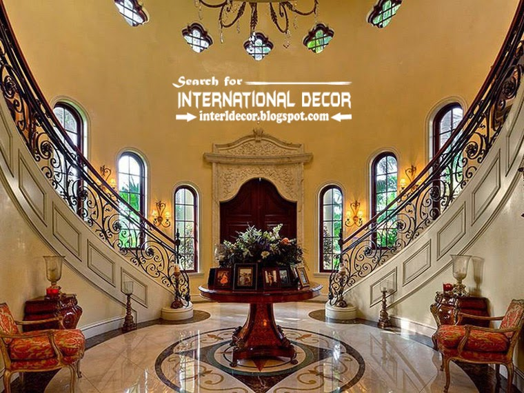 Mediterranean Palace in Florida, American palace Colonial style, luxury interior stairs