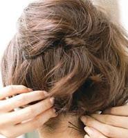 Cara mengikat rambut pendek