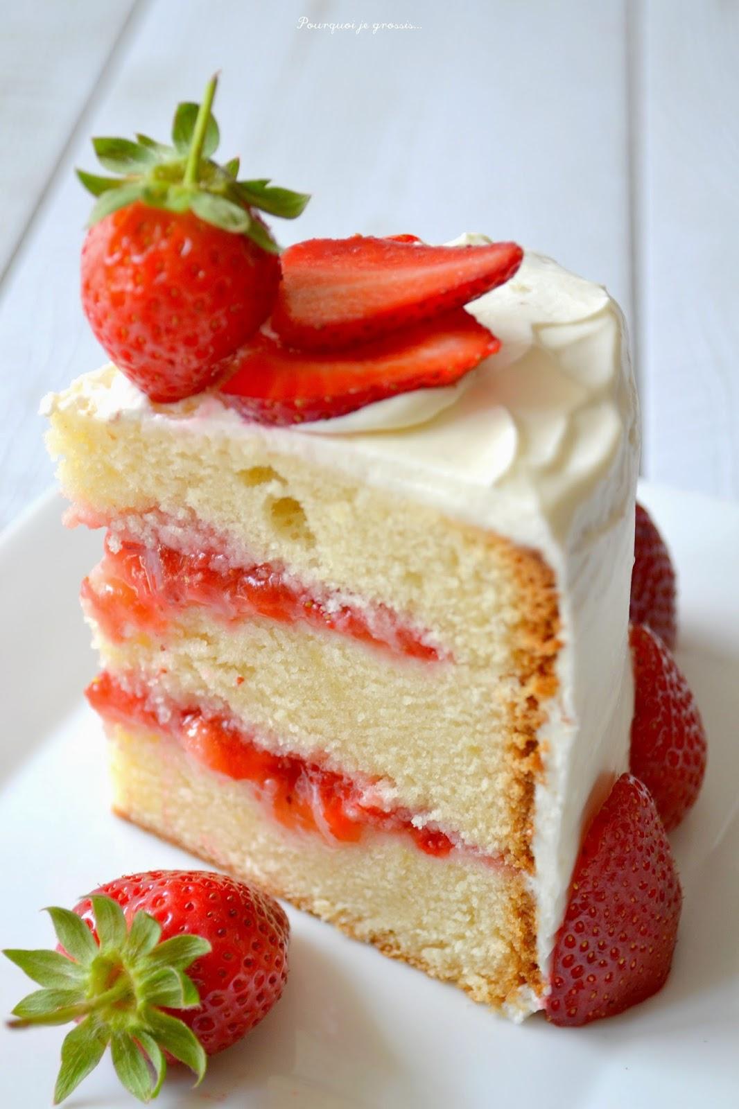 Recette Cake Design Fraise : Layer cake fraises & citron