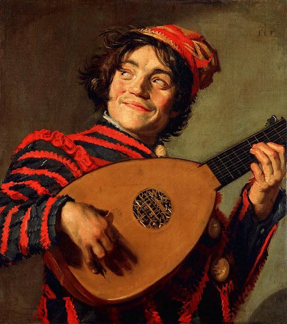 Luitspelende, Baroque painting, Frans Hals