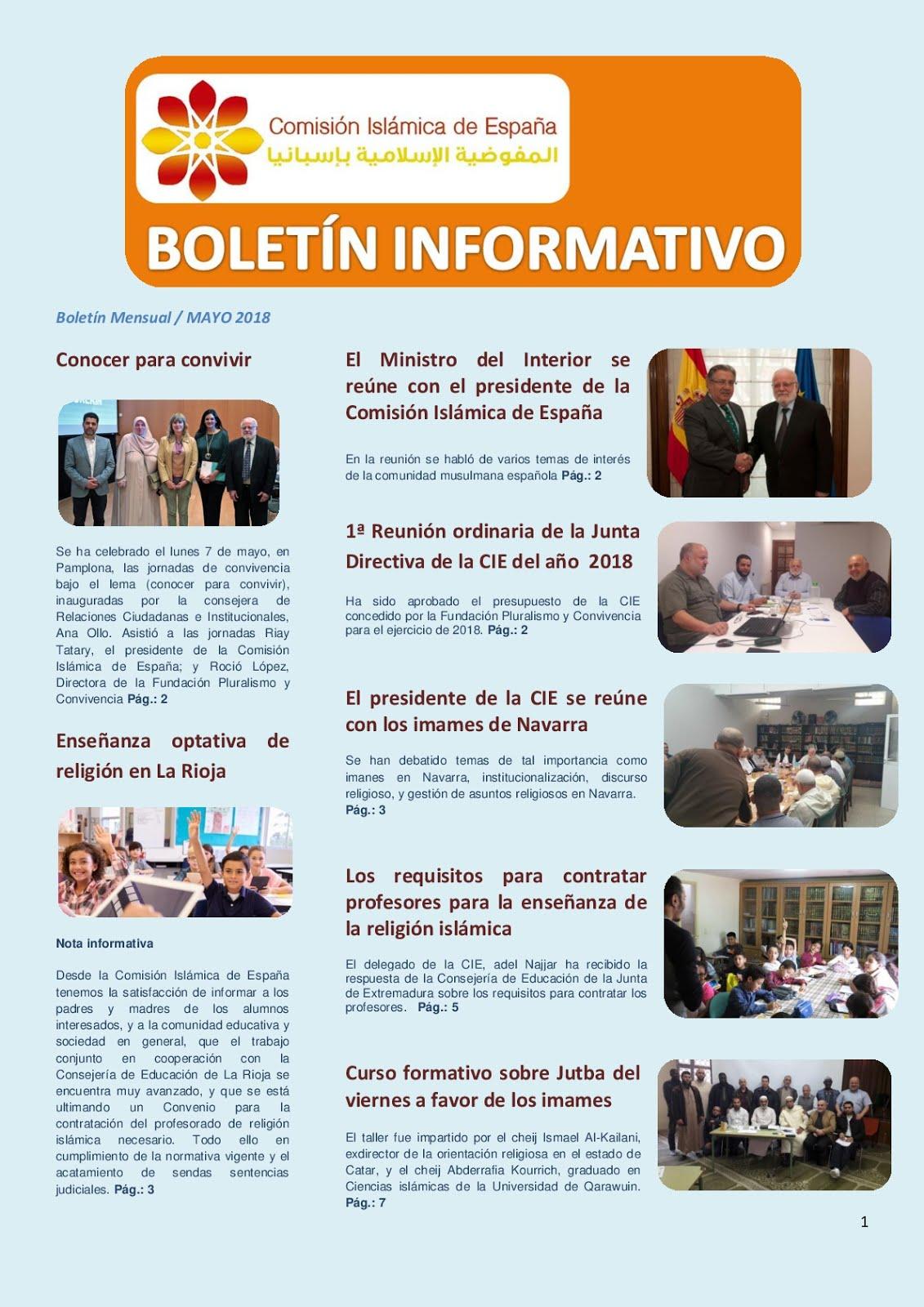 Boletín de la CIE mayo 2018