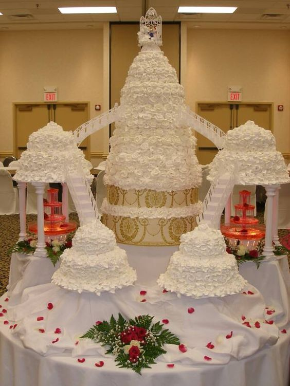 want to know: Wedding Cakes With Fountains And Stairs