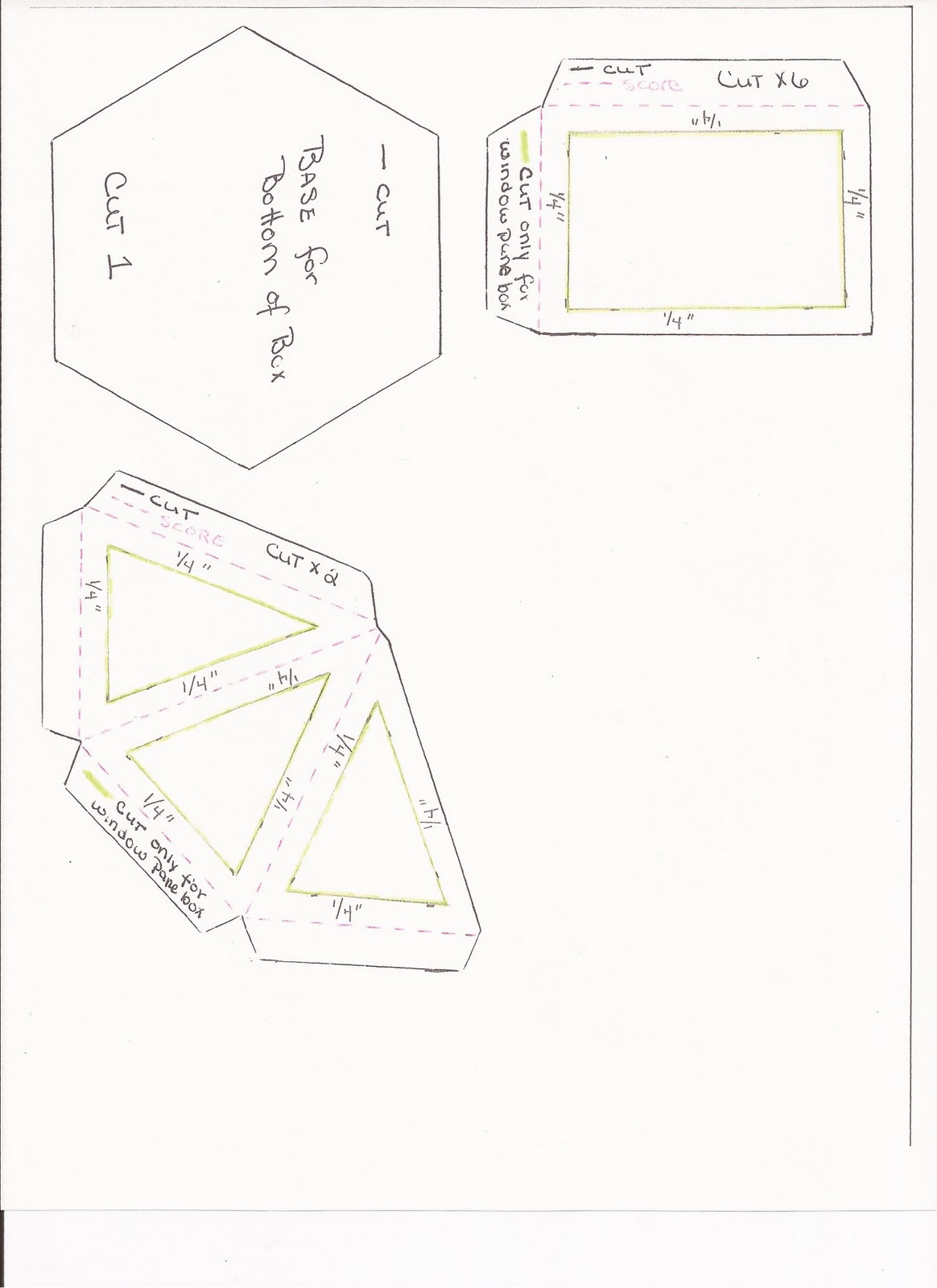 Mom and Me Playin\' with Paper: Hexagon (Gazebo) box Template