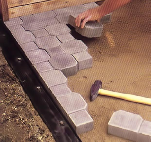 Ecol gica carmelo instalaci n de adoquines y sus elementos for Moldes para adoquines