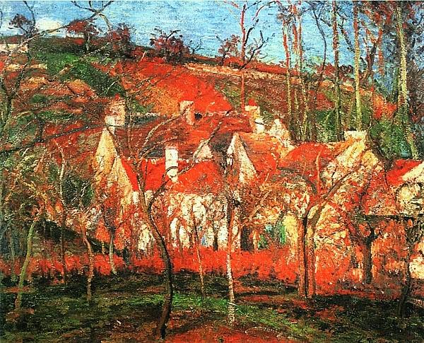 Камиль Писсарро. Красные крыши. 1877.