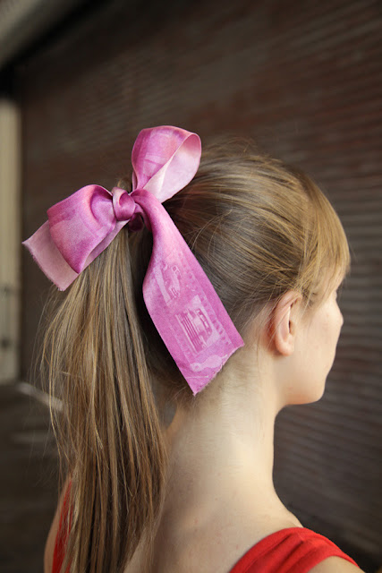 How to make a Photo-Print Hair Ribbon