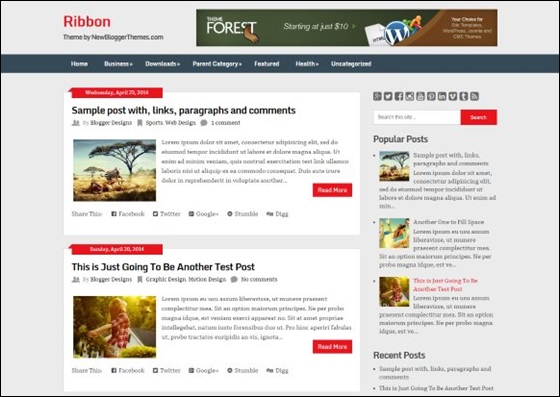 Ribbon Blogger Template | Best Blogger Themes | Professional ...