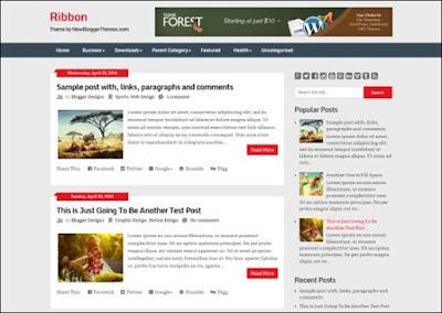 Ribbon Blogger Template