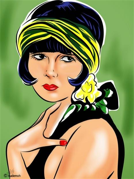 comics star femme 1920 louise brooks portrait dessin couleur. Black Bedroom Furniture Sets. Home Design Ideas