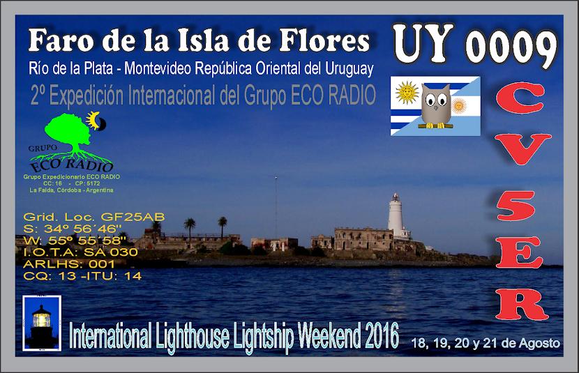 QSL Expedición Faro de la Isla de Flores UY 0009