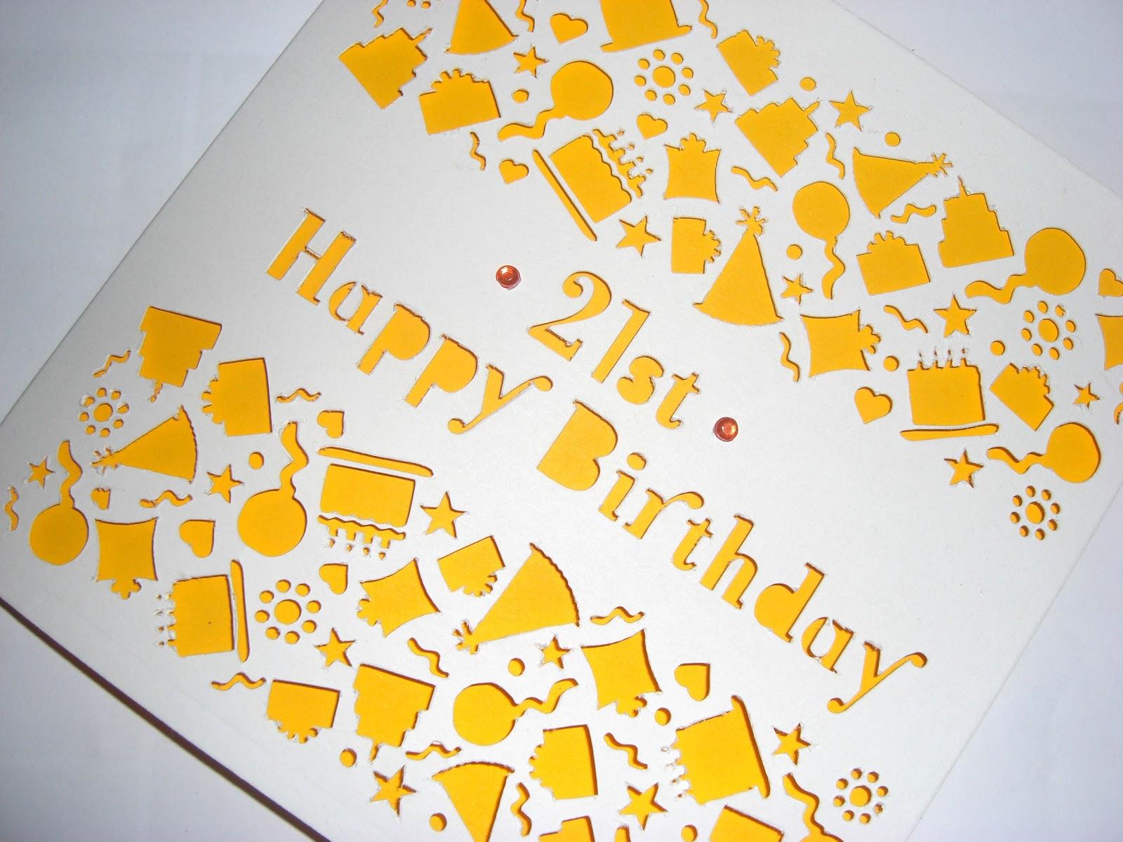 Sweet Pea Design Laser Cut Personalised Birthday Card