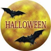 ハロウィンのイラスト・満月に飛ぶ蝙蝠