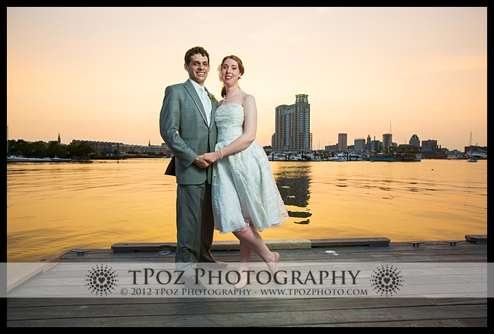 Baltimore Museum of Industry Wedding Sunset Portrait