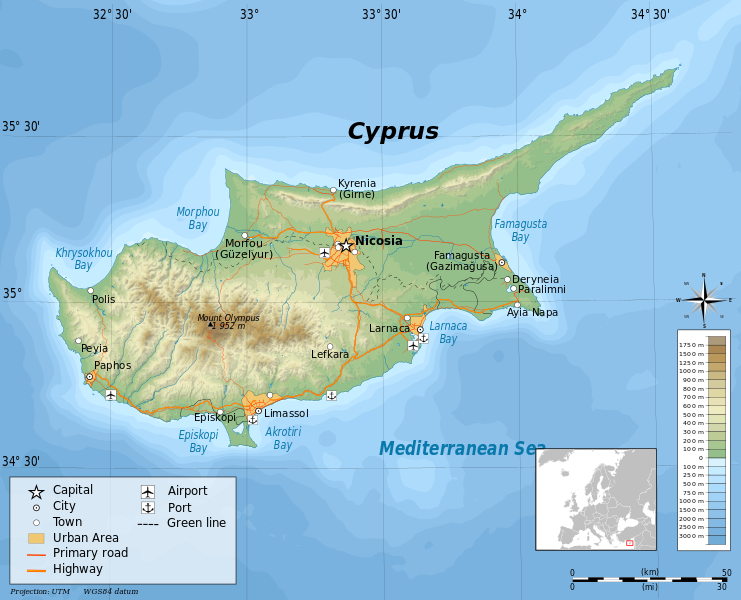 a geography of cyprus Sara kirchheimer holds a bachelor of science in physical geography from arizona state university and is currently retired from major landforms of cyprus.