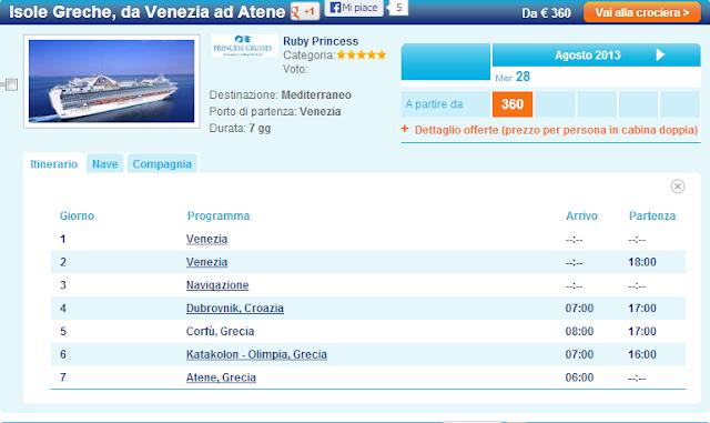 Le 10 Crociere più Economiche di Agosto per il Mediterraneo