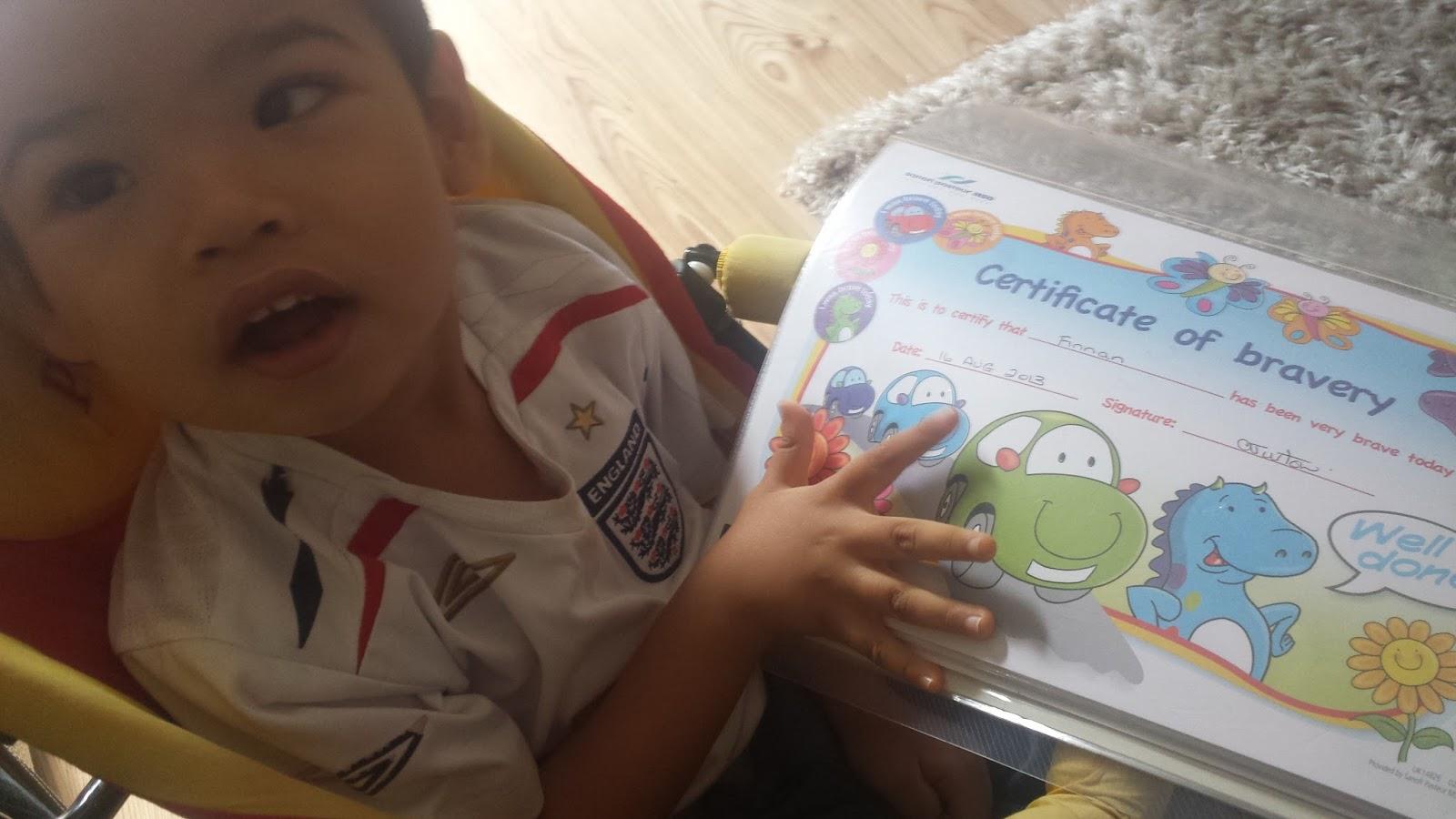 Can\'t Do Gymnastics (PMM2 CDG): Finnan\'s first certificate