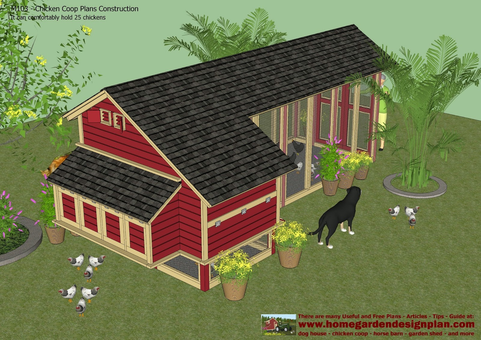 Chcken coop 5 x 6 chicken coop plans for Chicken coop size for 6 chickens