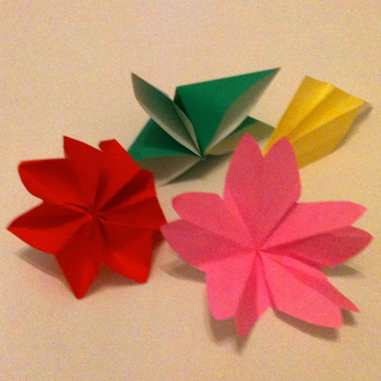 die ersten origami blumen. Black Bedroom Furniture Sets. Home Design Ideas