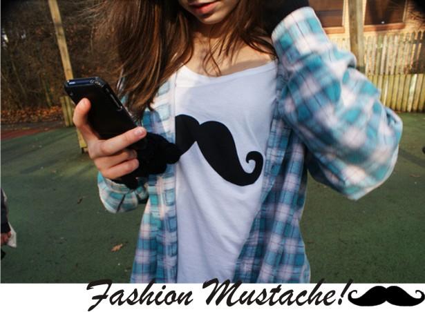 Mustache (bigode) virou tendencia de moda