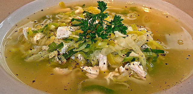 cock a leeky soup  healthy cooking product