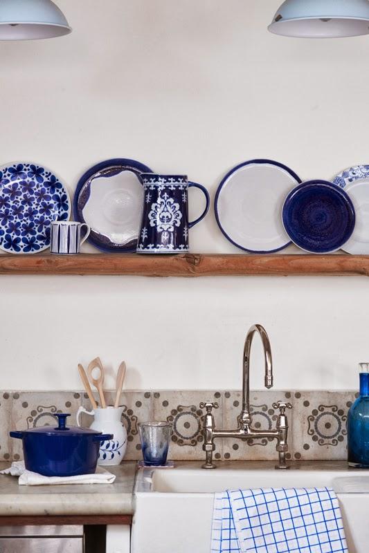 Cocina casa azul