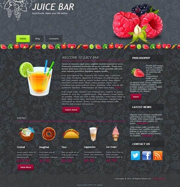 Juice Bar - Free Drupal Theme