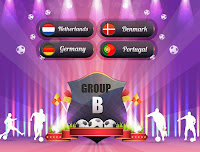 Euro 2012 logo and group B