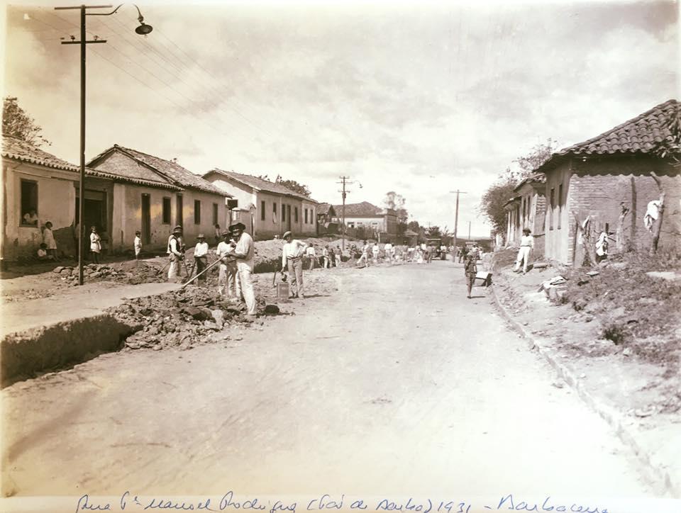 Rua Padre Manoel Rodrigues antigo Pau de Barba Barbacena MG 1931
