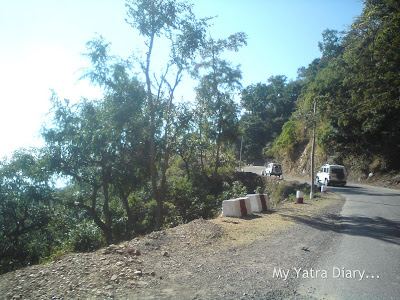 Roads in the Garhwal Himalayas during the Char Dham Yatra