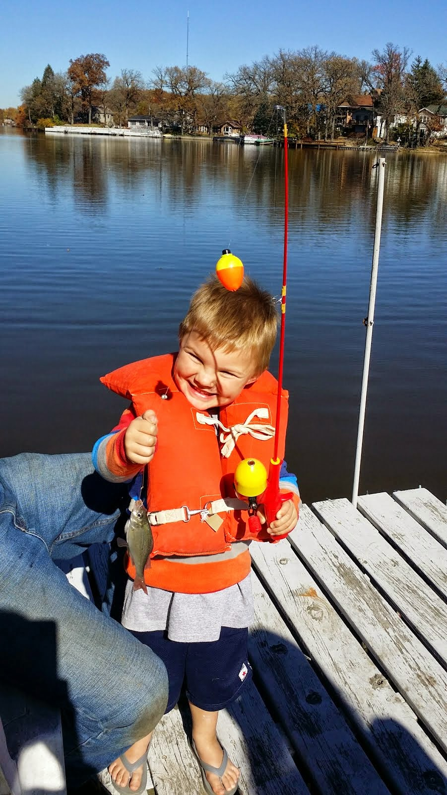 Zack Catches his Very 1st Fish!