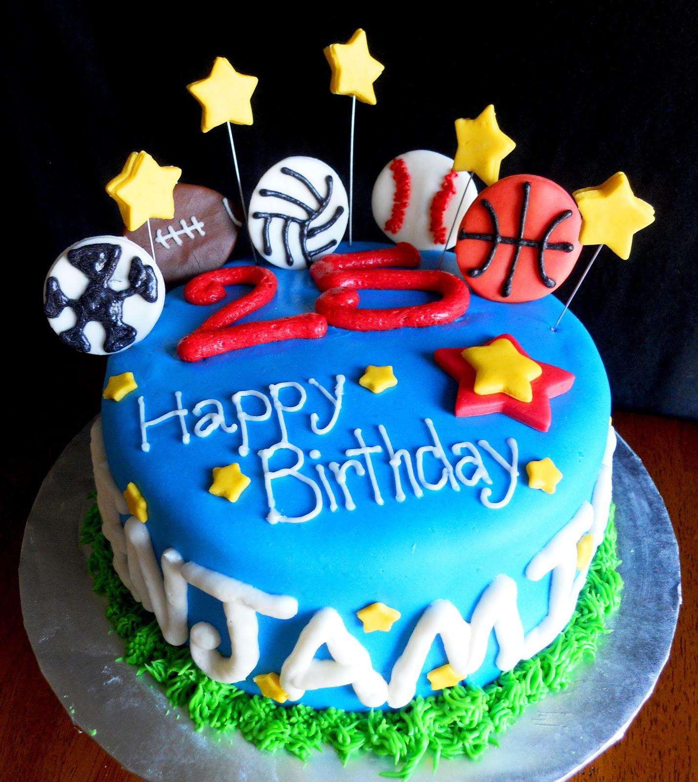 sports birthday cakes