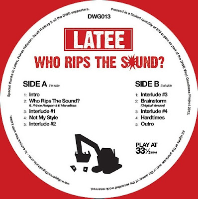 Latee ‎– Who Rips The Sound? (2012, 128) VLS