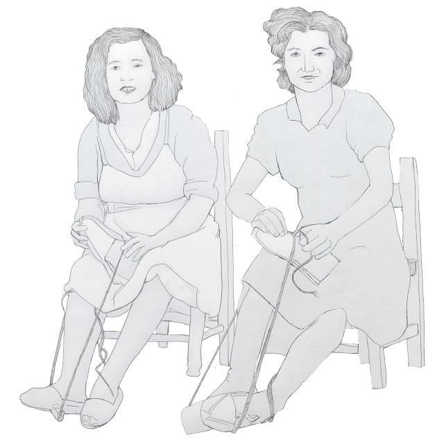 mujeres,alpargatas,calzado, oficio, dibujo
