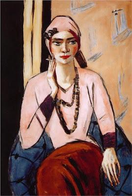 Max beckmann - Quappi en rose, 1932-1934