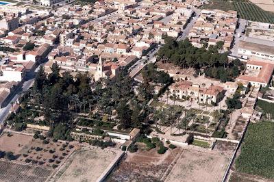 Vista aérea del conjunto década de 1990 aprox. Dirección General Patrimonio Cultural Valenciano