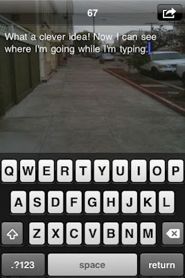 What a clever idea! Now I Can see where I'm going while I'm typing.