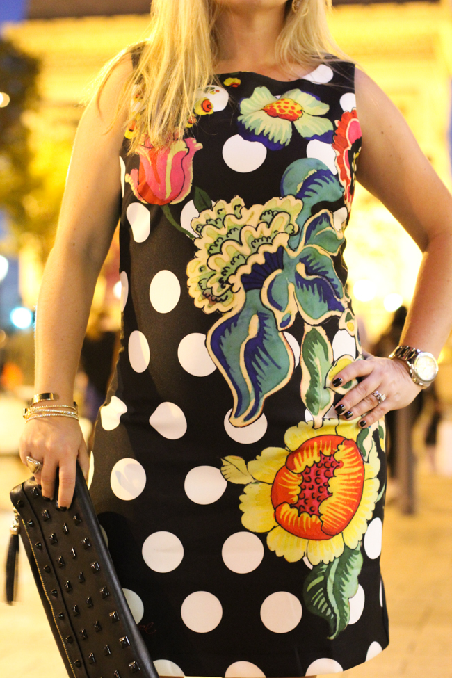 desigual polka dot and flower dress