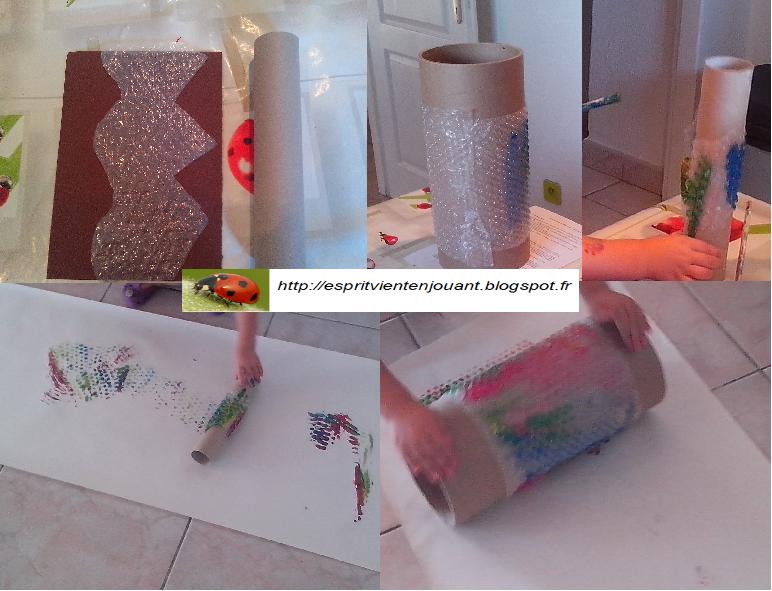 l 39 esprit vient en jouant peinture et papier bulles. Black Bedroom Furniture Sets. Home Design Ideas