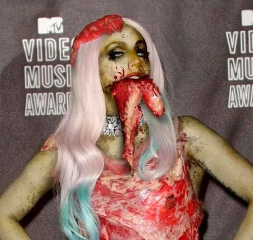 Lady Gaga's meat dress is a tasty addition to the Rock and Roll Hall of Fame.