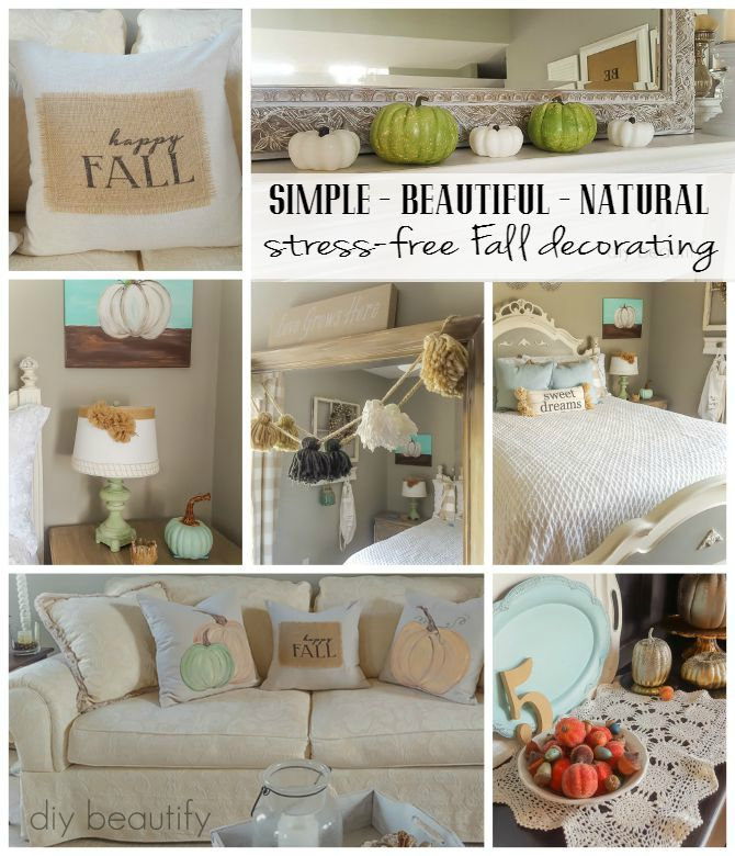 Simple fall decorating | diy beautify