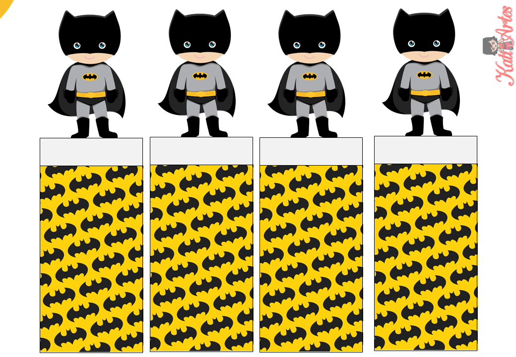 Batman: Envoltorios Especiales para Golosinas, para Imprimir Gratis.
