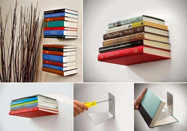 Como hacer un estante para libros invisible quiero m s - Estantes para libros ...