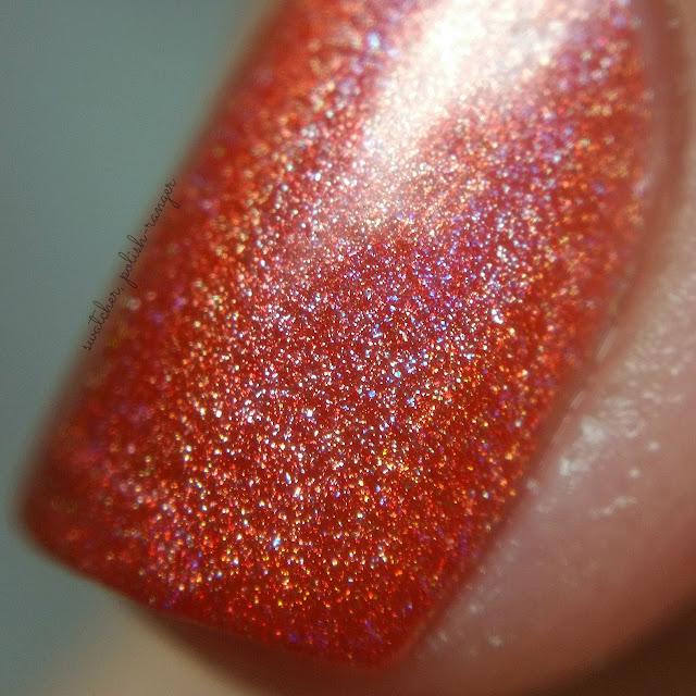 swatcher, polish-ranger | Glisten & Glow Tequila Sunrise macro