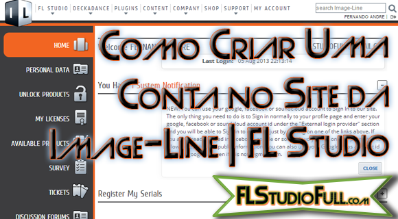 Como Criar uma Conta no Site da Image-Line Grátis [FL Studio]