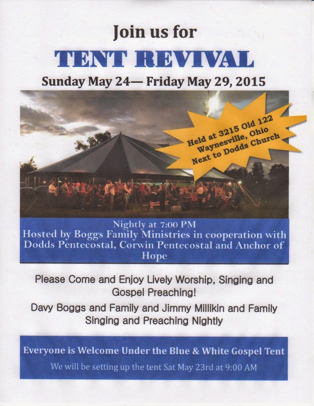 Mile Markers Waynesville Ohio Tent Revival