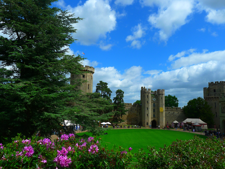 The Courtyard at Warwick Castle