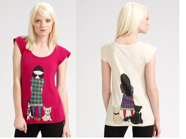 Marc by marc jacobs tee available in pink and off white as shown