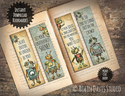 Bookmarks for Kids - Encouraging Quotes - Reading Gifts by Robin Davis Studio